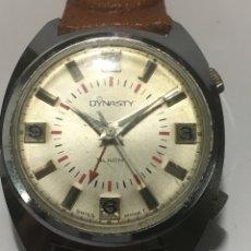 Relojes de pulsera: RELOJ DYNASTY ALARMA CARGA MANUAL SWISS MADE PARA COLECCIONISTAS. Lote 221761842