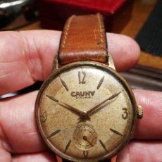Relógios de pulso: RELOZ DE PULSERA CARGA MANUAL CAUNY. FUNCIONA. 35MM. Lote 222066786
