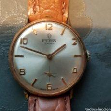 Relojes de pulsera: ANTIGUO RELOJ POTENS ORIGINAL SUIZO 15 RUBIS. NECESITA REPASO PARA FUNCIONAR.. Lote 222389017