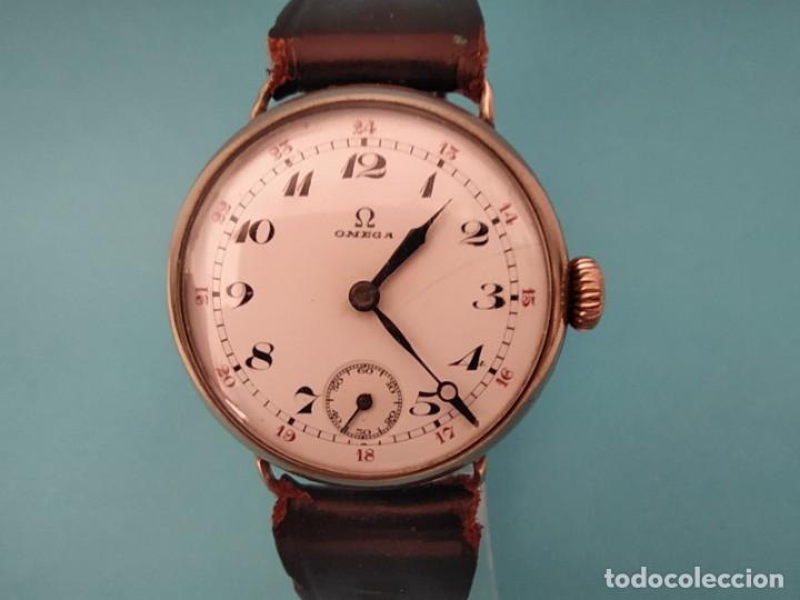 Relojes de pulsera: RELOJ OMEGA MILITAR AÑO 1916 TAPA DE BISAGRA - Foto 2 - 222242598