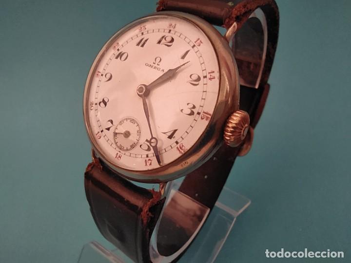 Relojes de pulsera: RELOJ OMEGA MILITAR AÑO 1916 TAPA DE BISAGRA - Foto 3 - 222242598