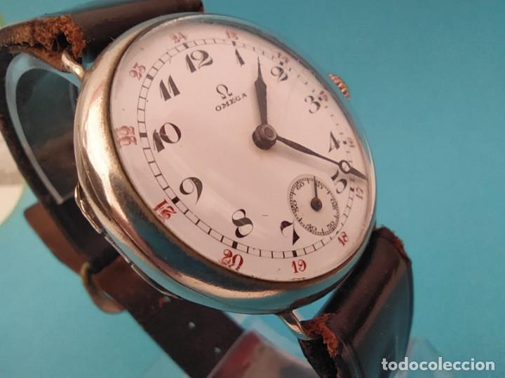 RELOJ OMEGA MILITAR AÑO 1916 TAPA DE BISAGRA (Relojes - Pulsera Carga Manual)