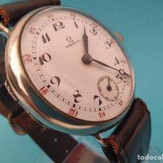 Relojes de pulsera: RELOJ OMEGA MILITAR AÑO 1916 TAPA DE BISAGRA. Lote 222242598