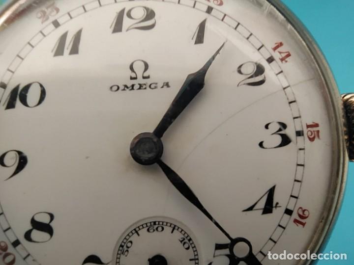 Relojes de pulsera: RELOJ OMEGA MILITAR AÑO 1916 TAPA DE BISAGRA - Foto 8 - 222242598