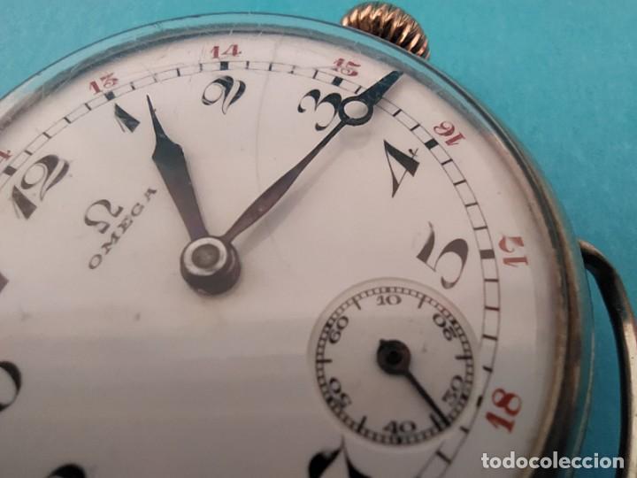 Relojes de pulsera: RELOJ OMEGA MILITAR AÑO 1916 TAPA DE BISAGRA - Foto 21 - 222242598