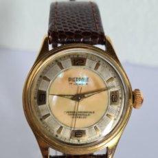Relojes de pulsera: RELOJ DE CABALLERO (VINTAGE) PIERPONT, CHAPADO ORO, DE CUERDA SUIZO, 7 RUBIS ANTICHOC, CORREA CUERO.. Lote 222488753
