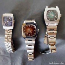 Relojes de pulsera: LOTE 3 RELOJES DE CUERDA, VINTAGE, C1970, NOS. Lote 222573141