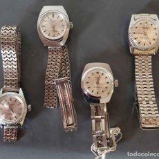 Relojes de pulsera: LOTE 4 RELOJES RUBENS DE CUERDA MOV. SWISS, VINTAGE, C1970, NOS. Lote 222574117