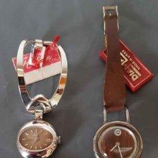 Relojes de pulsera: LOTE 2 RELOJES DE CUERDA, VINTAGE, C1970, NOS. Lote 222575260