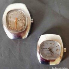 Relojes de pulsera: LOTE 2 RELOJES MARCO POLO Y CINGLER DE CUERDA, SWISS, VINTAGE, C1970, NOS. Lote 222576853