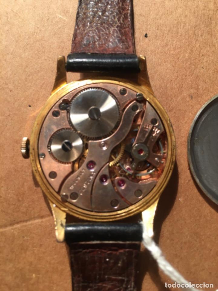Relojes de pulsera: ANTIGUO RELOJ MECANICO MARCA FESTINA CHAPADO BUEN ESTADO FUNCIONA 4,5X3,7 CM. - Foto 4 - 161648550
