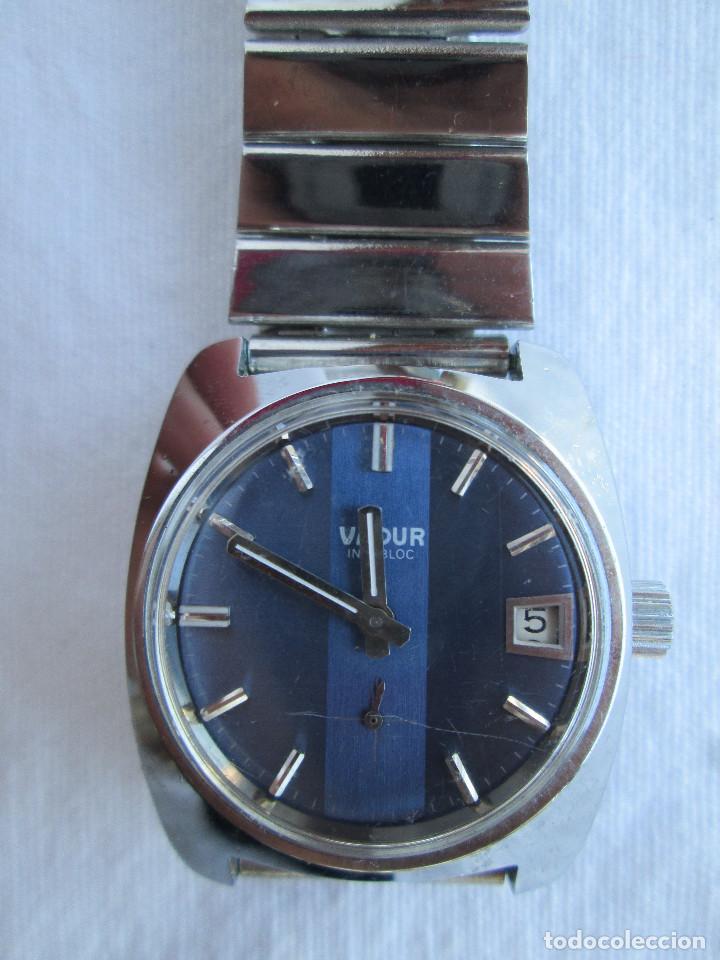 RELOJ DE PULSERA VADUR, CARGA MANUAL-CUERDA - CALENDARIO- FUNCIONANDO - DE ACERO INOXIDABLE CADENA R (Relojes - Pulsera Carga Manual)
