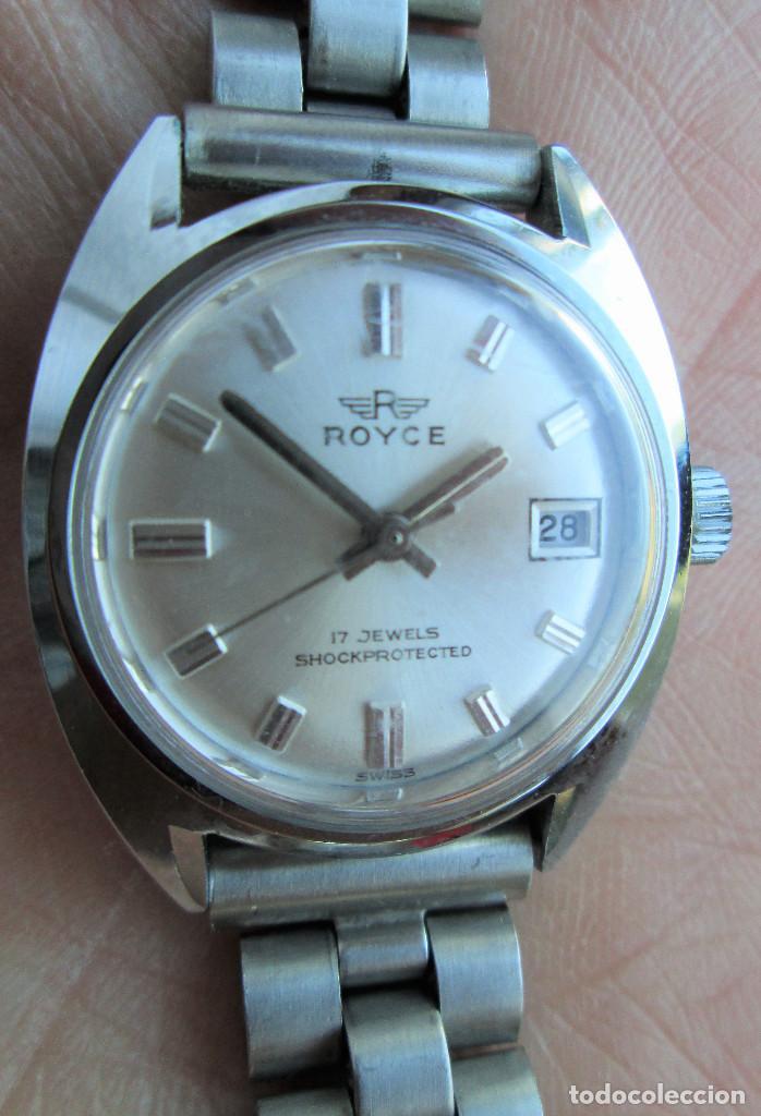 RELOJ DE PULSERA ROYCE CARGA MANUAL-CUERDA - CALENDARIO- FUNCIONANDO - DE ACERO INOXIDABLE CADENA RE (Relojes - Pulsera Carga Manual)