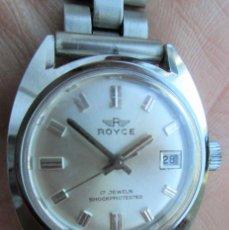 Relojes de pulsera: RELOJ DE PULSERA ROYCE CARGA MANUAL-CUERDA - CALENDARIO- FUNCIONANDO - DE ACERO INOXIDABLE CADENA RE. Lote 224015207