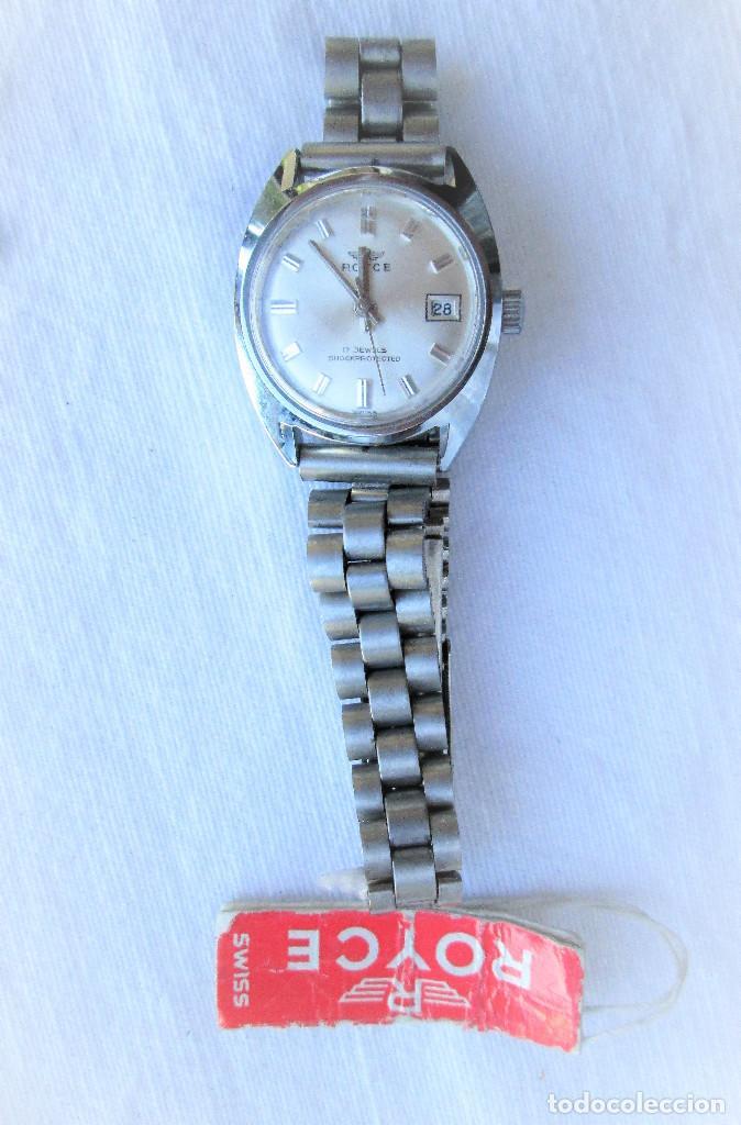 Relojes de pulsera: RELOJ DE PULSERA ROYCE CARGA MANUAL-CUERDA - CALENDARIO- FUNCIONANDO - DE ACERO INOXIDABLE CADENA RE - Foto 2 - 224015207