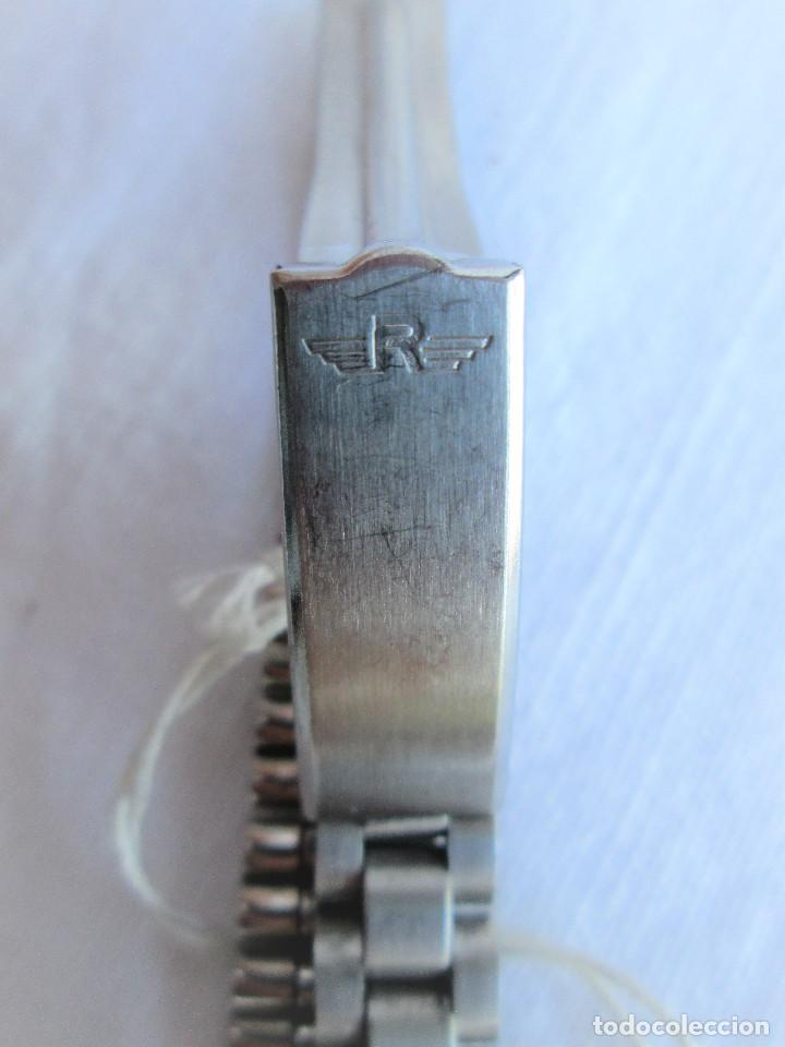 Relojes de pulsera: RELOJ DE PULSERA ROYCE CARGA MANUAL-CUERDA - CALENDARIO- FUNCIONANDO - DE ACERO INOXIDABLE CADENA RE - Foto 5 - 224015207