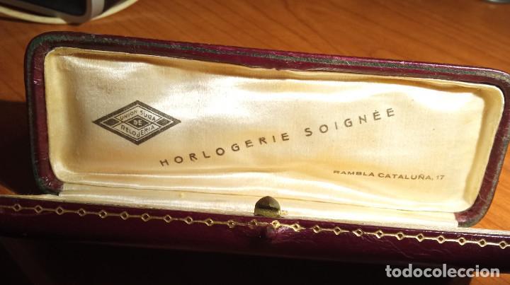 Relojes de pulsera: Estuche en piel Unión Suiza de Relojeria.Horlogerie Soignée Rambla Cataluña 17 - Foto 2 - 224395102