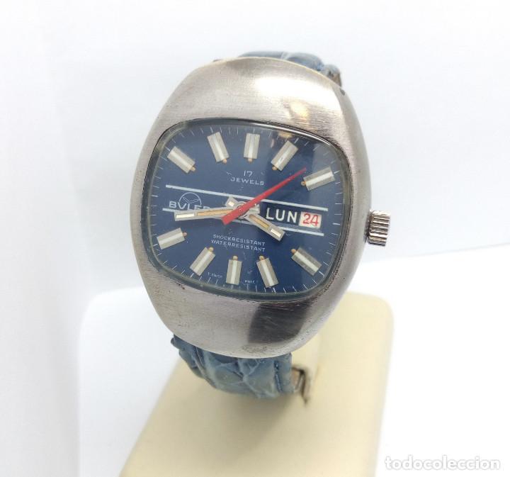 RELOJ BULER DE CARGA MANUAL, SWISS MADE 17 JEWELS - CAJA 35 MM - FUNCIONANDO (Relojes - Pulsera Carga Manual)