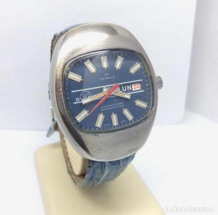 Relojes de pulsera: RELOJ BULER DE CARGA MANUAL, SWISS MADE 17 JEWELS - CAJA 35 mm - FUNCIONANDO - Foto 2 - 224895505