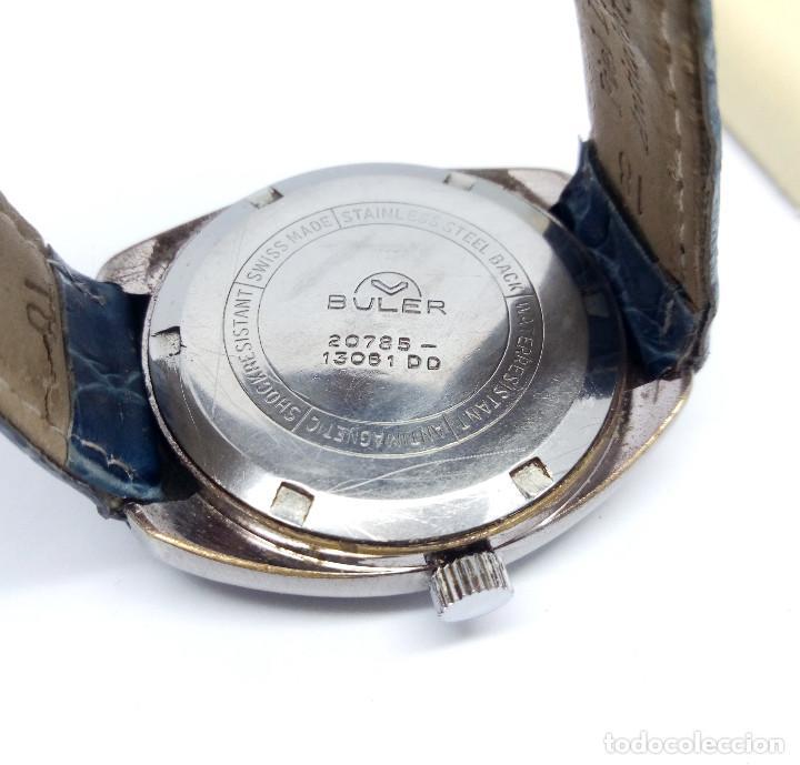 Relojes de pulsera: RELOJ BULER DE CARGA MANUAL, SWISS MADE 17 JEWELS - CAJA 35 mm - FUNCIONANDO - Foto 5 - 224895505