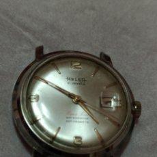 Relojes de pulsera: RELOJ HELSA 21 JEWES SÚPER LUXE CALENDARIO NO FUNCIONA. Lote 224952805