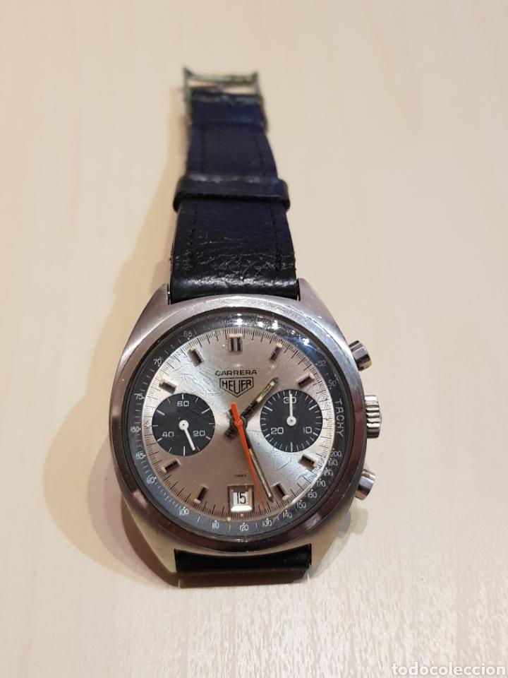ANTIGUO RELOJ HEUER CARRERA GRAN ESTADO Y FUNCIONANDO ORIGINAL (Relojes - Pulsera Carga Manual)