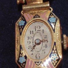 Relojes de pulsera: RELOJ JOYA PRINCIPIOS SXX KIEL CAJA ORO DE 18K Y ESMALTE. Lote 226611885