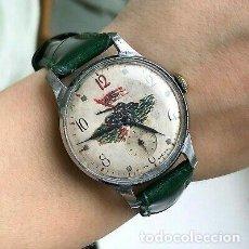 Relojes de pulsera: RELOJ POBEDA RUSO PINTADO TANQUE SEGUNDA GUERRA MUNDIAL.. Lote 227199830