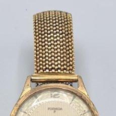 Relojes de pulsera: RELOJ DE PULSERA MARCA FORMIDA. CHAPADO ENORO. TAPA DE ACERO INOX. CIRCA 1950.. Lote 228088870