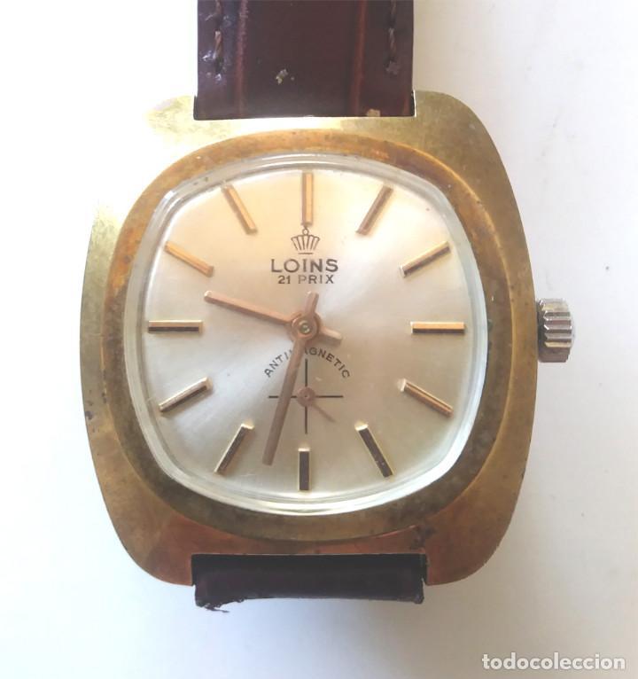 LOINS RELOJ PULSERA A CUERDA SUIZO, FUNCIONA. MED. 35 MM SIN CONTAR CORONA (Relojes - Pulsera Carga Manual)