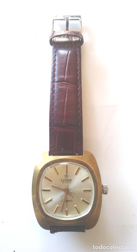 Relojes de pulsera: Loins reloj pulsera a cuerda Suizo, funciona. Med. 35 mm sin contar corona - Foto 2 - 228385810