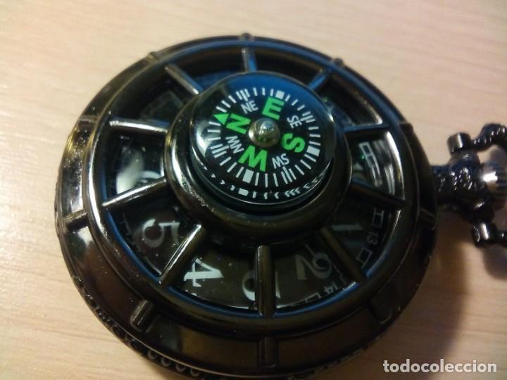 RELOJ BOLSILLO CON BRUJULA. (Relojes - Pulsera Carga Manual)