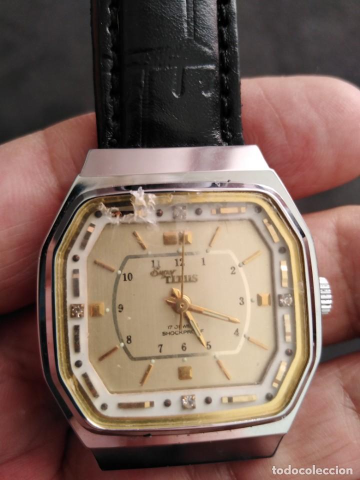 Relojes de pulsera: RELOJ SUIZO SUPER TITUS VINTAGE NUEVO. - Foto 4 - 133501494