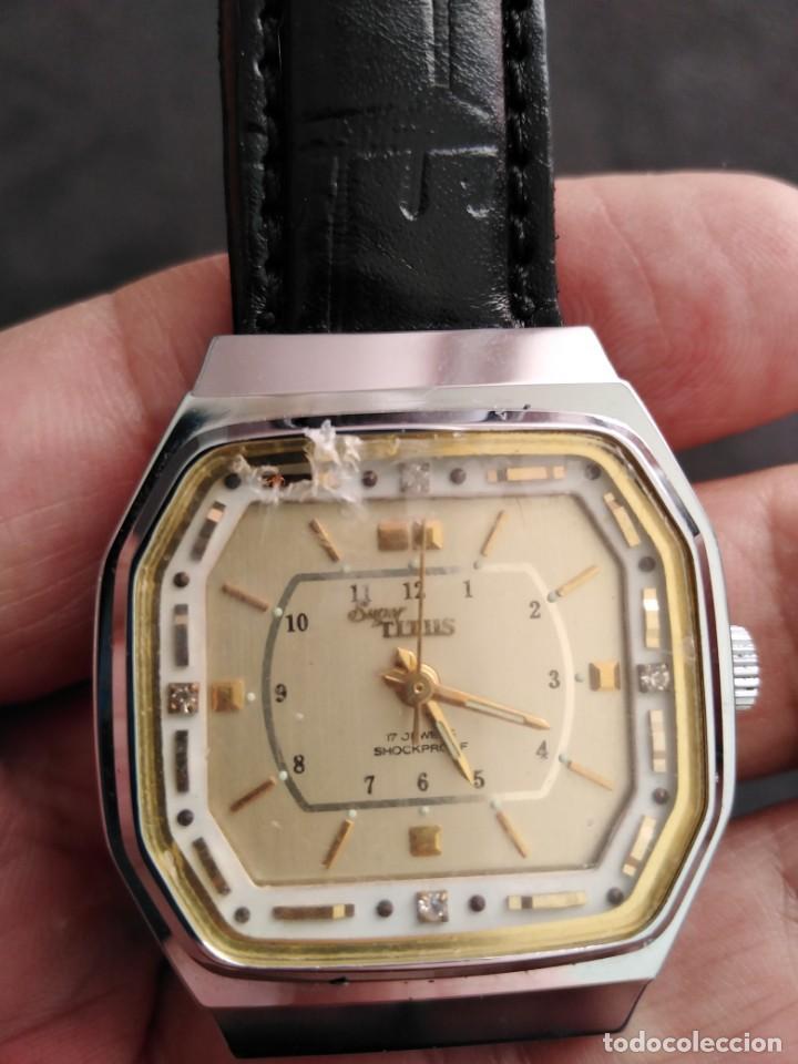 Relojes de pulsera: RELOJ SUIZO SUPER TITUS VINTAGE NUEVO. - Foto 5 - 133501494