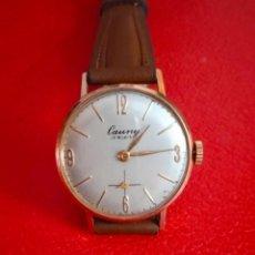 Relojes de pulsera: RELOJ CAUNY 17 RUBIS PLAQUE OR 10 MICRONS.. Lote 232729235