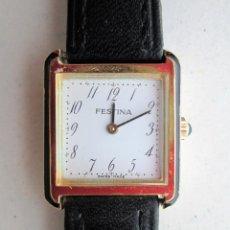 Relojes de pulsera: RELOJ DE PULSERA SUIZO FESTINA - CARGA MANUAL, CUERDA - PULSERA PIEL ORIGINAL - FUNCIONANDO - SIN ES. Lote 234451750