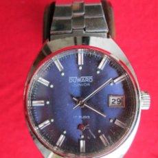 Relojes de pulsera: RELOJ DE PULSERA DUWARD CARGA MANUAL-CUERDA - CALENDARIO- FUNCIONANDO - DE ACERO INOXIDABLE - SIN ES. Lote 234453380