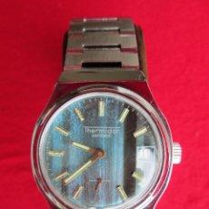 Relojes de pulsera: RELOJ DE PULSERA THERMIDOR CARGA MANUAL-CUERDA - CALENDARIO- FUNCIONANDO - DE ACERO INOXIDABLE - SIN. Lote 234454415