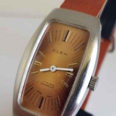 Relojes de pulsera: RELOJ CLER, SWISS MADE, DE CUERDA, VINTAGE, C1970, NOS (NEW OLD STOCK). Lote 234730690