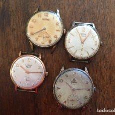 Relojes de pulsera: LOTE DE CUATRO RELOJES SIN PULSERA MARCAS DOGMA TECHNOS CAUNY PRIMA 17 RUBIS SANDOZ 15 RUBIS. Lote 235256180