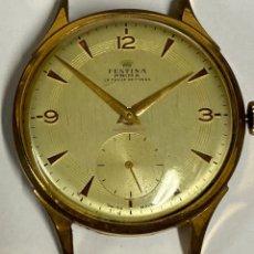 Relojes de pulsera: RELOJ FESTINA DE CUERDA DE LOS AÑOS 40 FUNCIONANDO. Lote 235824500
