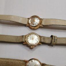 Relojes de pulsera: LOTE DE TRES RELOJES 18Q ORO. Lote 236457385