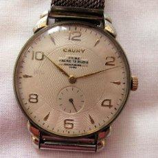 Relojes de pulsera: RELOJ DE CUERDA ANTIGUO CAUNY PRIMA GRANDE. Lote 236760965