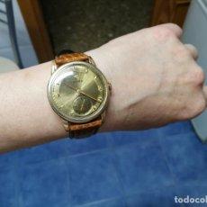 Relojes de pulsera: ESPECTACULAR RELOJ CYMA ANTIQUISIMO CHAPADO EN ORO ROSA 20M, FUNCIONA PERFECTAMENTE, CASI ÚNICO RARO. Lote 237524070
