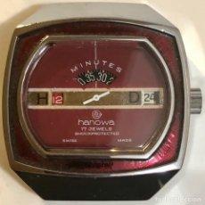 Relojes de pulsera: RELOJ HANOWA JUMP HOUR VINTAGE AÑOS 60S 70S MUY RARO!. Lote 238864450
