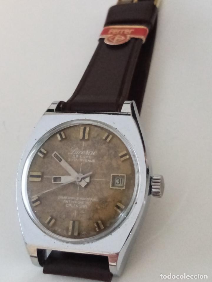 Relojes de pulsera: RELOJ DE PULSERA LUCERNE DE LUXE SWISS MADE MECANICO - Foto 2 - 240484465