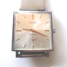 Relojes de pulsera: DUWARD DIPLOMATIC RELOJ SUIZO, FUNCIONA, CAJA Y CORREA DE ACERO. MED 28 MM SIN CONTAR CORONA. Lote 240571245
