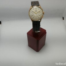 Relojes de pulsera: RELOJ CRONÓGRAFO ANTIGUO, EN ORO ROSA DE 18K, DELBANA, GRANDE, CASI 40MM C/C. Lote 241594545
