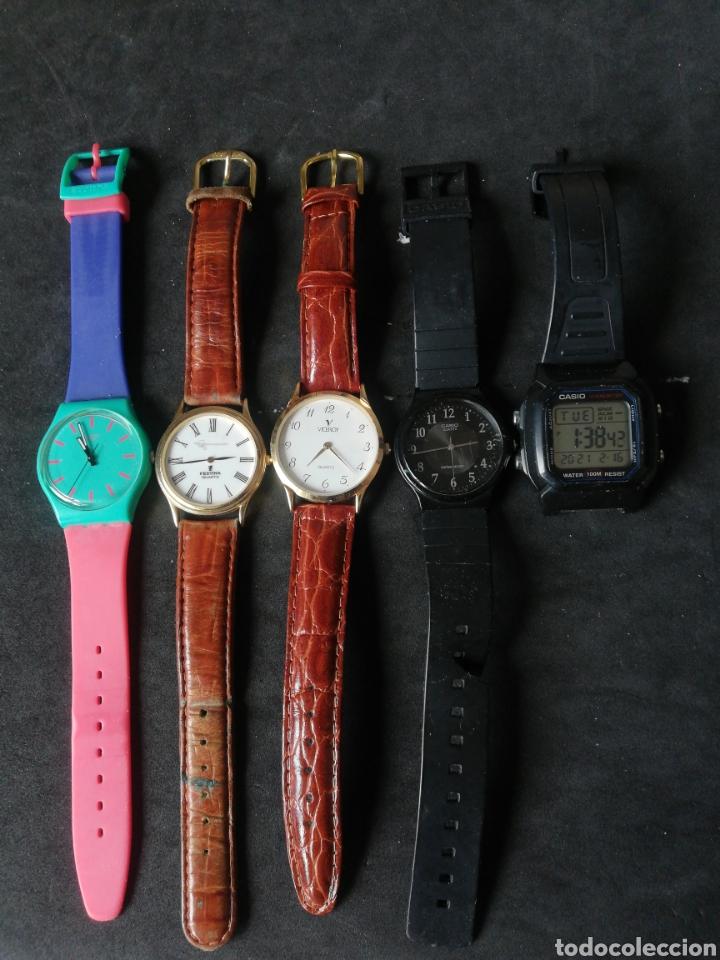 LOTE CASIO FESTINA VICEROY Y SWATCH 5 UNIDADES (Relojes - Pulsera Carga Manual)