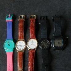 Relojes de pulsera: LOTE CASIO FESTINA VICEROY Y SWATCH 5 UNIDADES. Lote 241894850